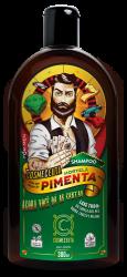 Shampoo Masculino Barba Cabelo Bigode Hortelã e Pimenta Vegano 300ml