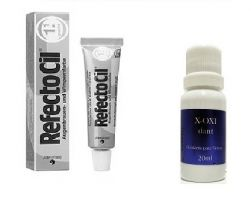 Refectocil 1.1 Grafite 15ml + Oxidante Henafix 20ml Cílios Sobrancelhas Barba
