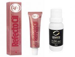 Refectocil 4.1 Vermelho Tintura para Cílios e Sobrancelhas 15ml + Oxidante Henafix 20ml