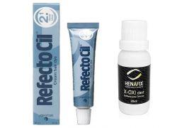 Refectocil 2.1 Azul Profundo Tintura para Cílios e Sobrancelhas 15ml + Oxidante Henafix 20ml
