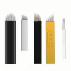 Kit de Lâminas Agulhas para Tebori Microblanding Sobrancelha Fio a Fio 5 Modelos