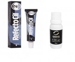 Refectocil 2.0 Preto Azulado 15ml + Oxidante Henafix 20ml Cílios Sobrancelhas Barba