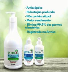 Loção antisséptica e hidratante para as mãos Elimina germes e bactérias Extraya 100ml